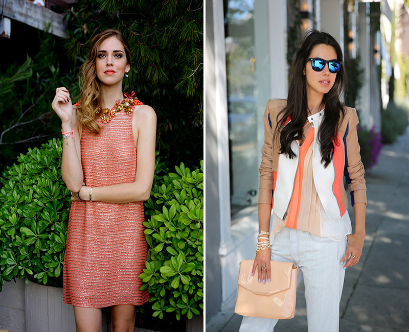 coral street style, chiara ferragni style, anabelle fleur style
