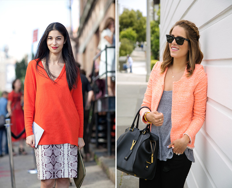 caroline issa style, coral street style