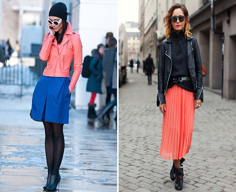 coral, coral street style, coral maxi skirt