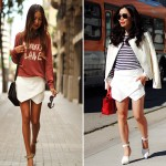 sincerely jules, white zara skort