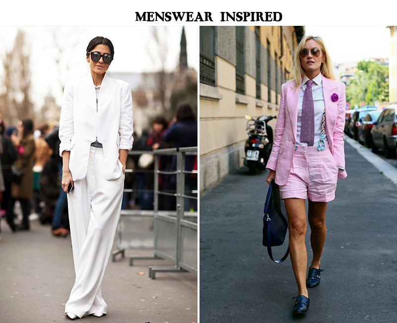 menswear for women, women menswear street style