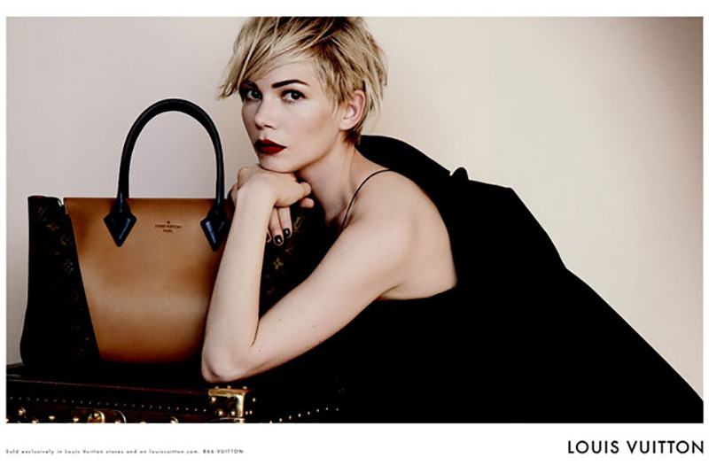 louis vuitton ad campaign, louis vuitton ad campaign fall 2013, michelle williams louis vuitton ad campaign