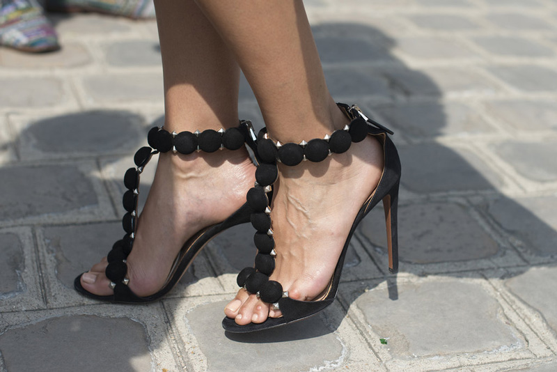 alaia heels, alaia shoes, alaia street style