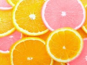 pink citrus, orange citrus
