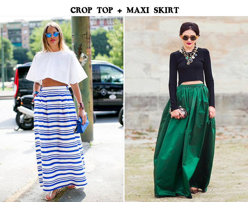 crop top, maxi skirt, crop top street style, maxi skirt street style, catalina vornica, carlotta oddi style