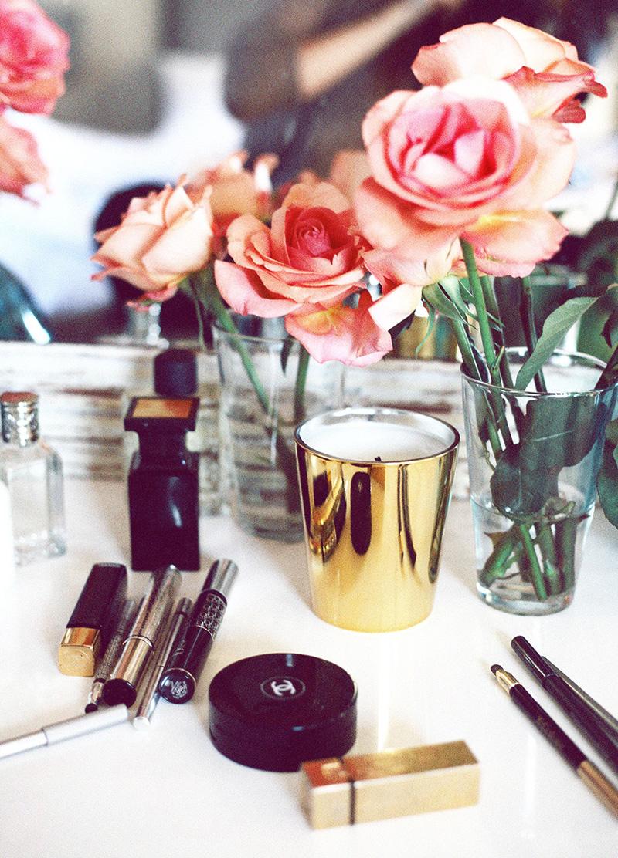 vanity table, vanity decor, vanity vignette
