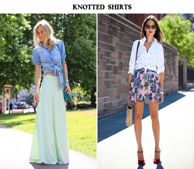 5 inch and up blog, knotted shirt,