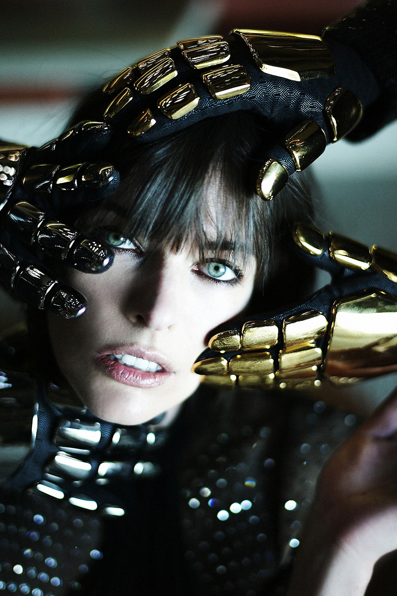 cr fashion book editorial, daft punk milla jovovich, milla jovovich cr (2)