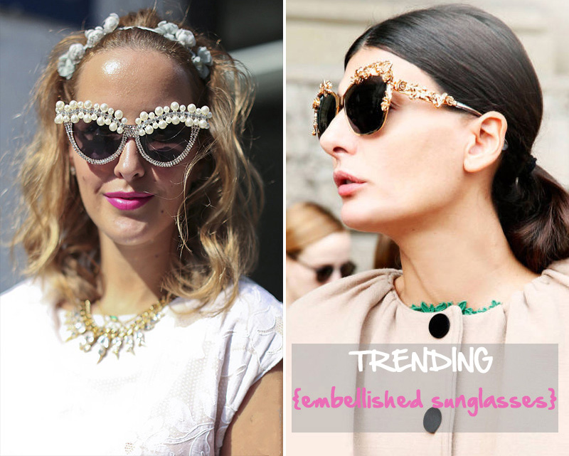 embellished sunglasses, statement sunglasses, giovanna battaglia sunglasses