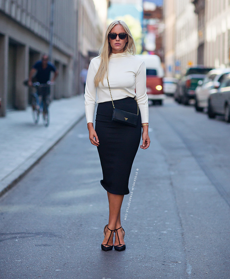 Petra Tungarden, street style stockholm, black and white outfit