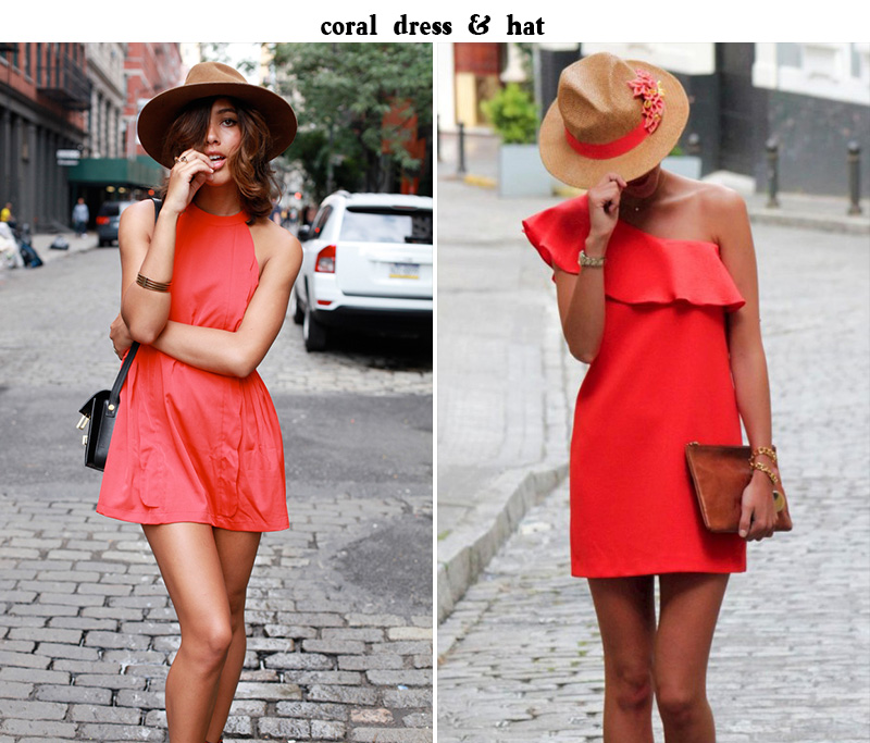 coral dress, coral summer, coral outfit, coral inspiration