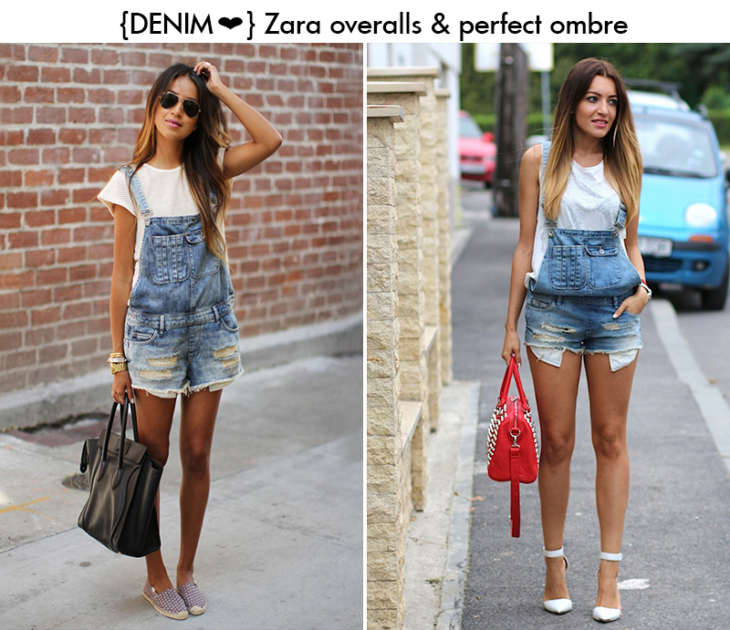 julie sarinana style, sincerely jules style, sandra bendre, zara denim overalls