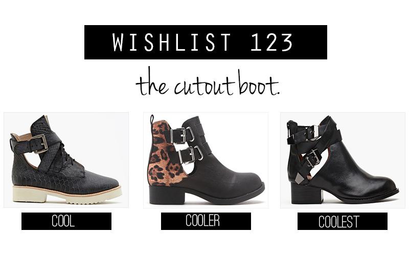 cutout boots, cutout boot,