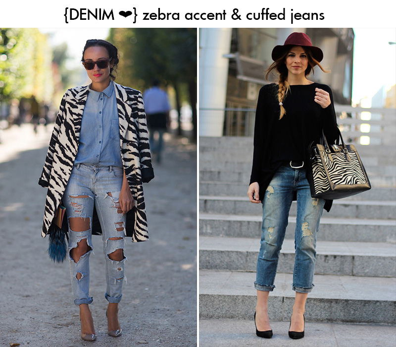 denim zebra, denim inspiration