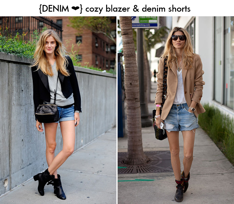 denim shorts outfit, denim inspiration