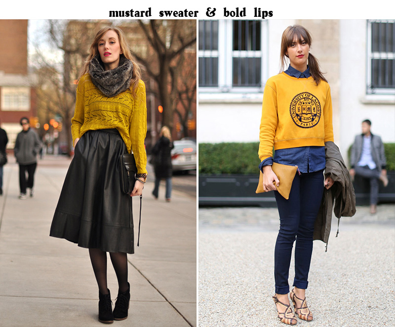 mustard sweater, mustard style, sweater inspiration