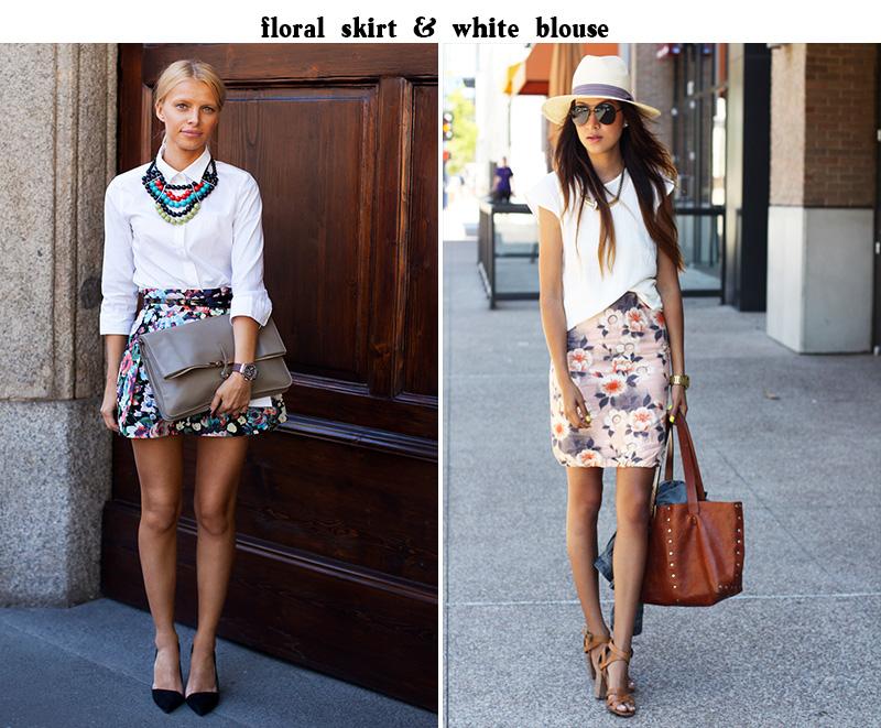 floral skirt inspo, florals trend, sincerely jules floral
