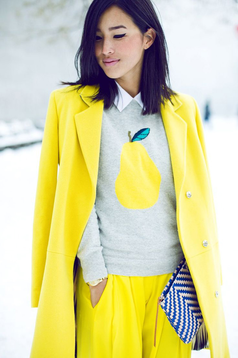 yellow outfit ideas, yellow street style, yellow street style, gary pepper
