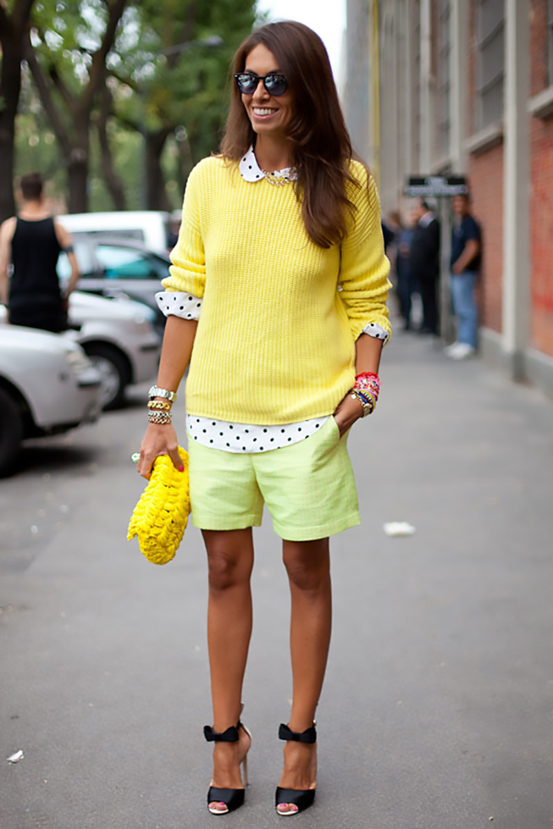 yellow outfit ideas, yellow street style, yellow street style (9)