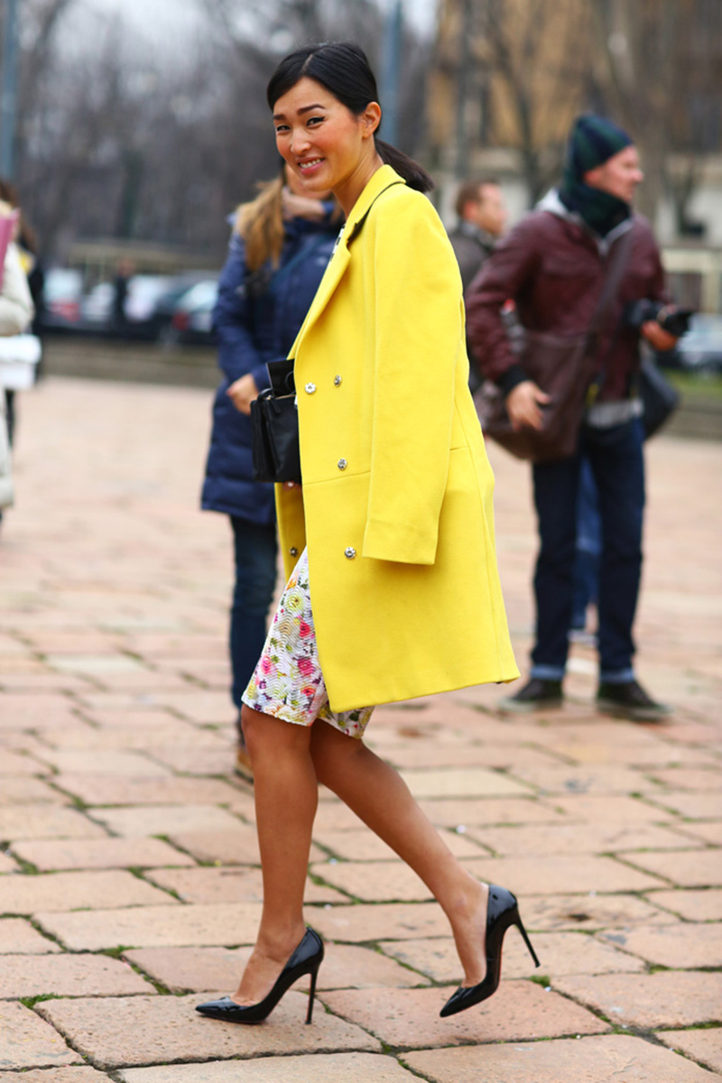 yellow outfit ideas, yellow street style, yellow street style (8)