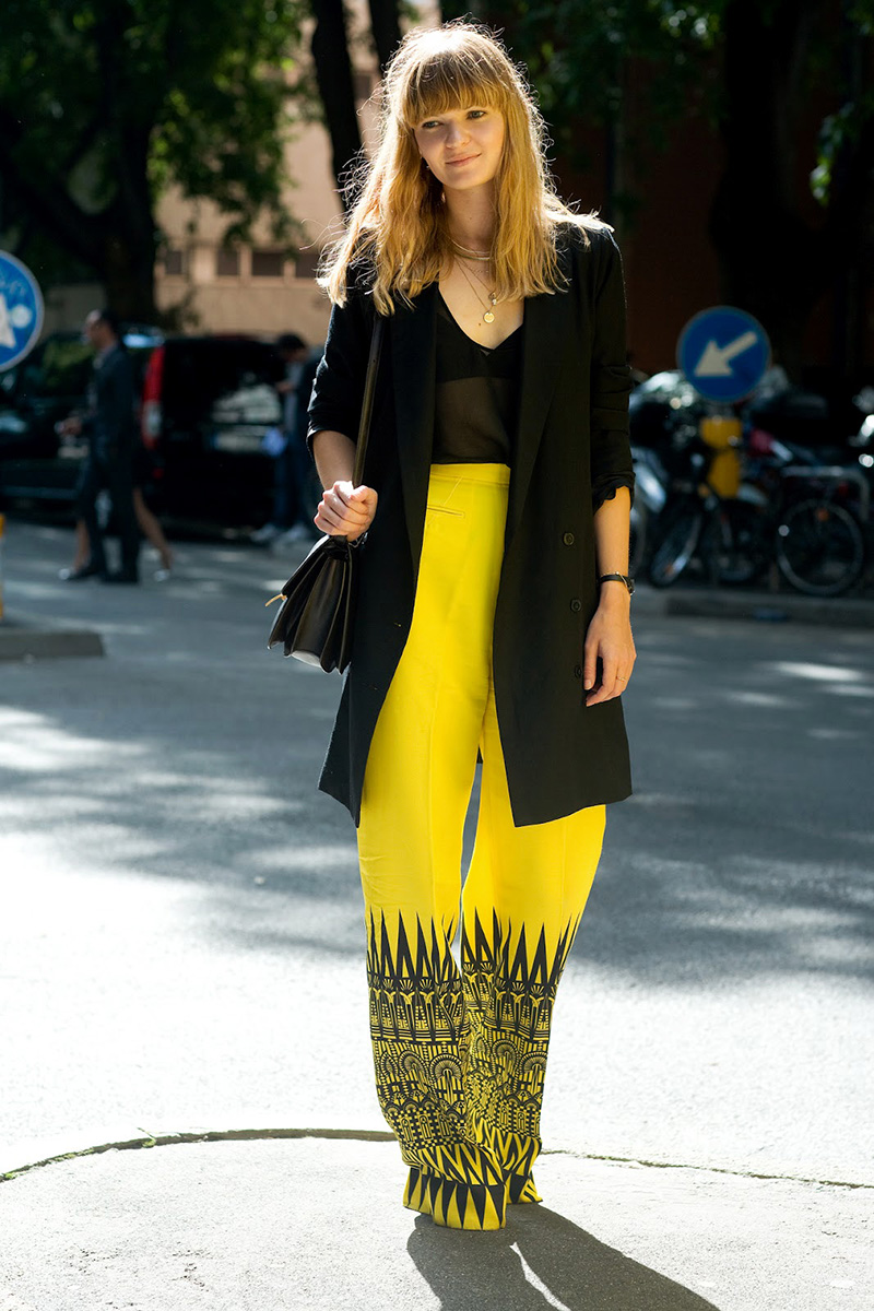 yellow outfit ideas, yellow street style, yellow street style (5)