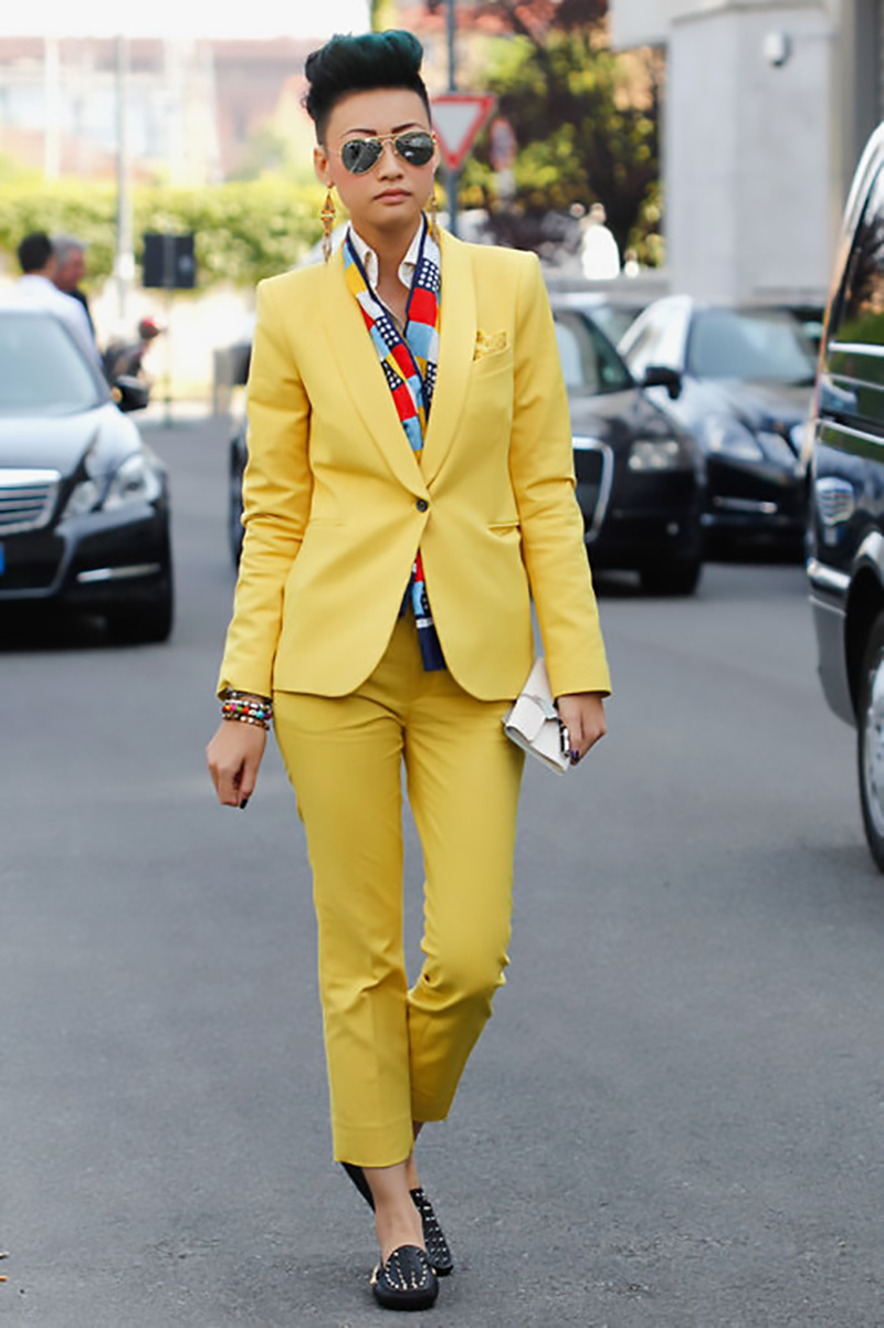 yellow outfit ideas, yellow street style, yellow street style (11)