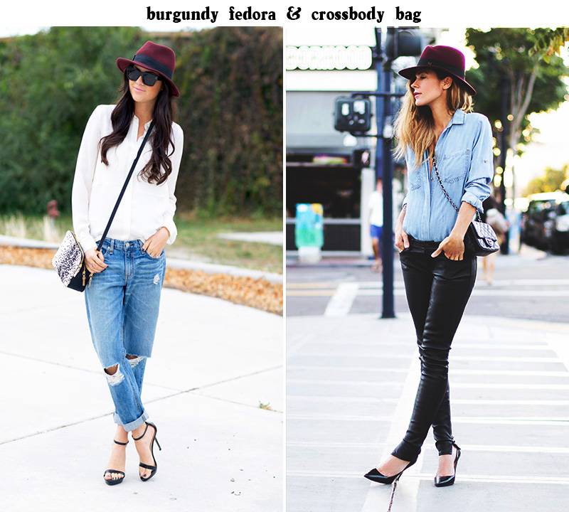 styling_duo_brgundy_fedora_crossbody_bag