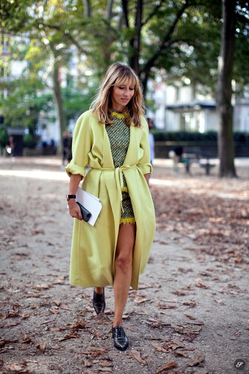 alexandra golovanoff style, alexandra golovanoff, yellow coat street style