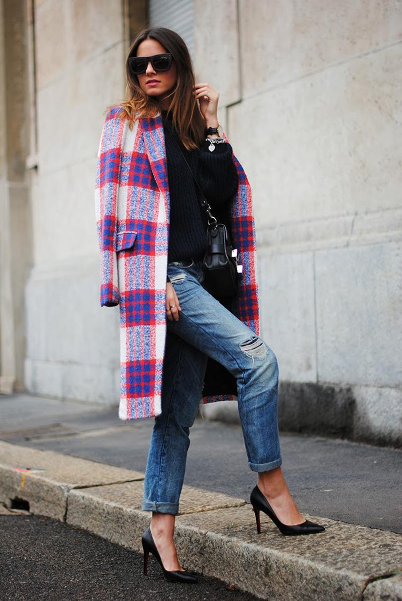 plaid coat style, zina charkoplia, fashion vibe style