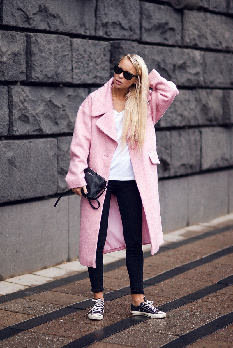 how to wear || PINK COATS