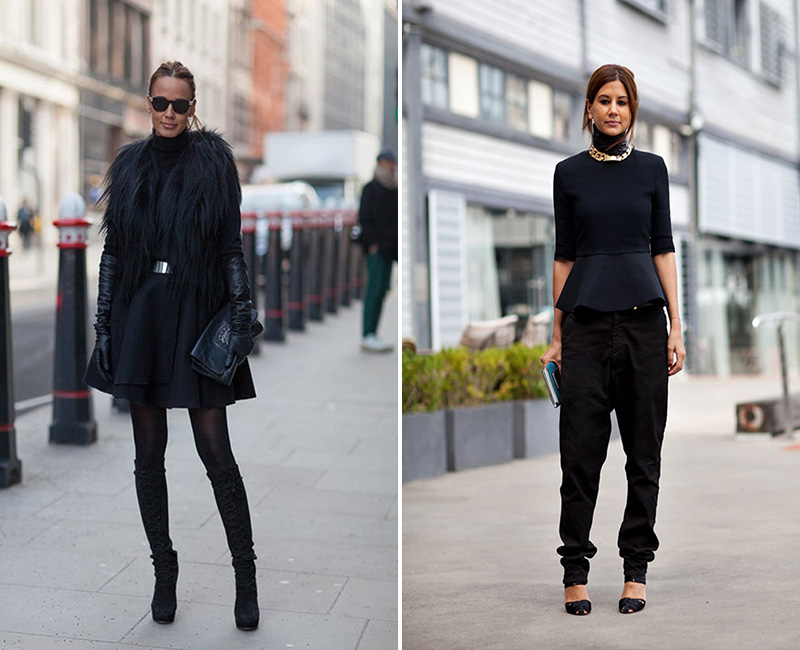 How to wear: black turtlenecks