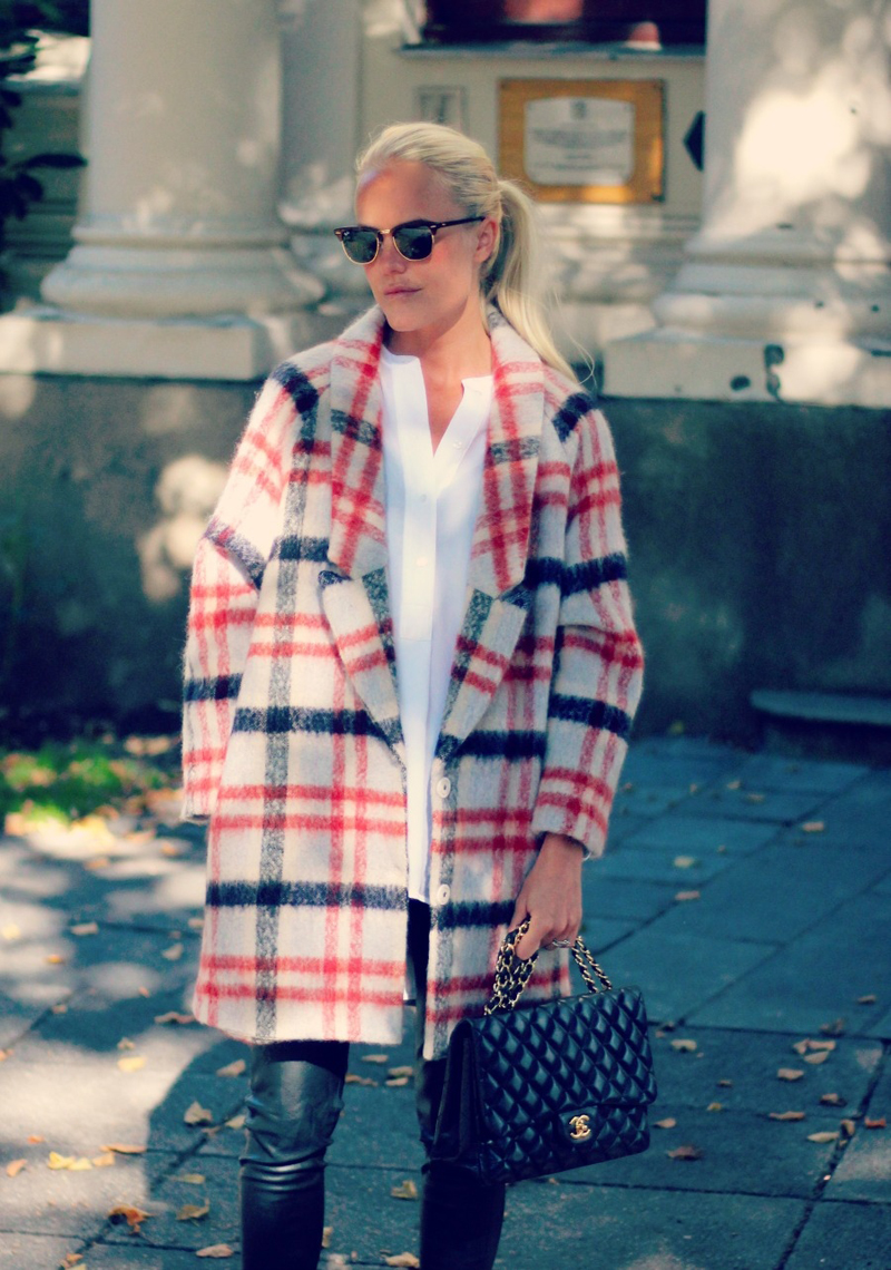 ganni mother of pearl check coat, ganni tartan coat, ganni plaid coat (16)