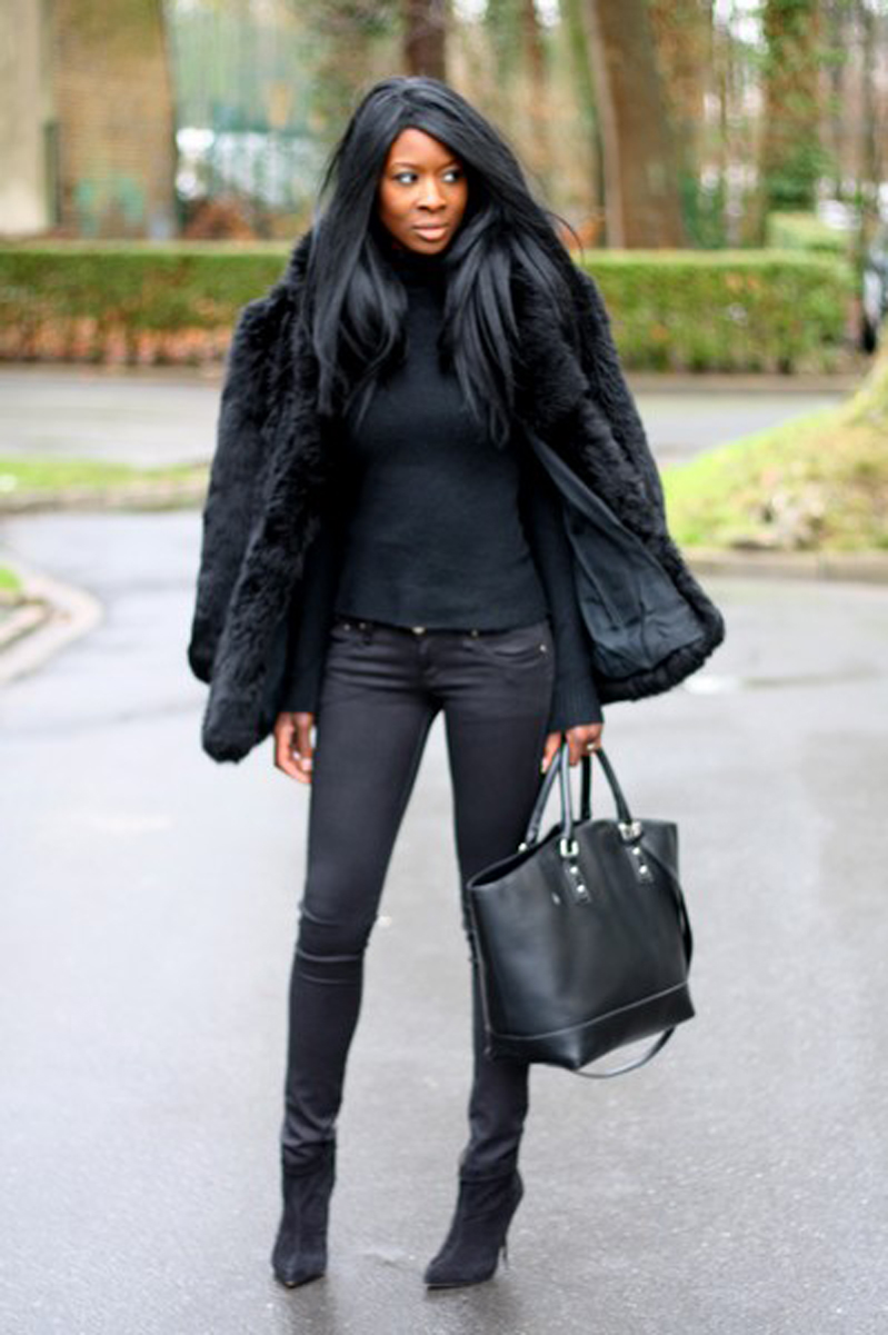 black inspiration, black street style, all black (17)