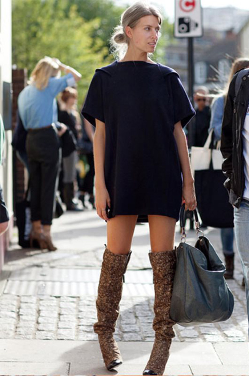 thigh high boots, thigh high boots street style, (4)