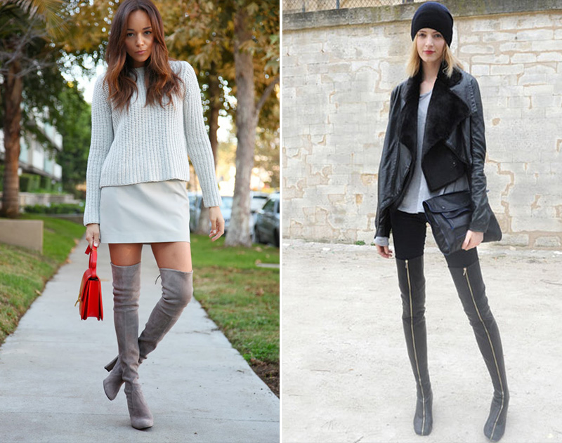 thigh high boots, thigh high boots street style, (22)