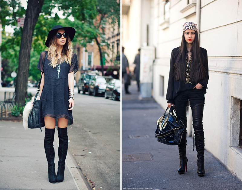 thigh high boots, thigh high boots street style, (21)