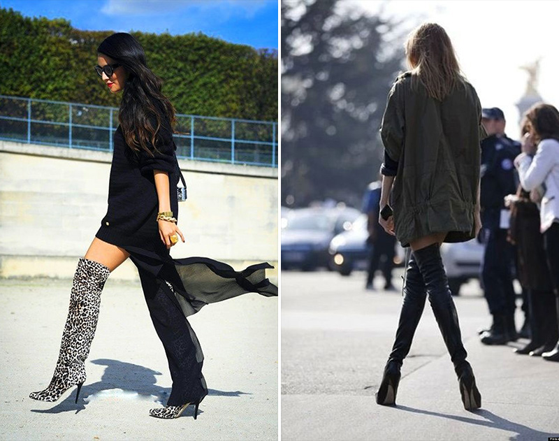 thigh high boots, thigh high boots street style, (20)