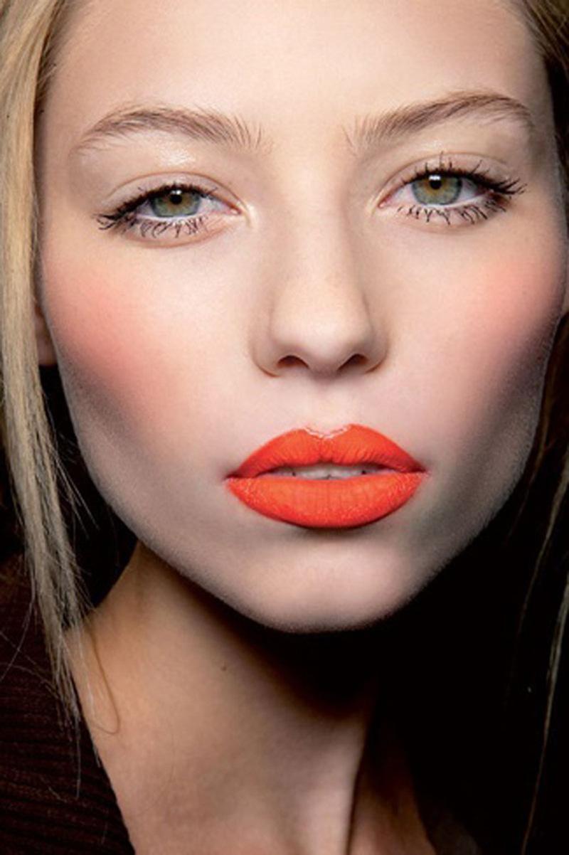 orange lips, orange lips trend (24)