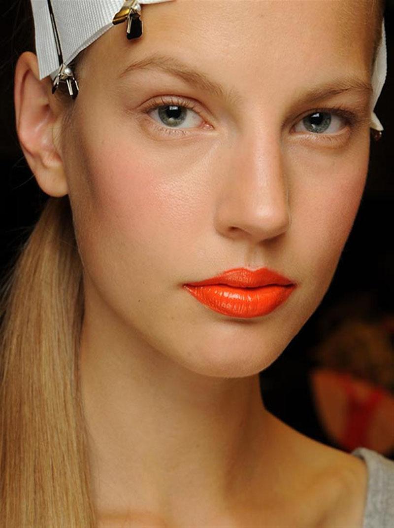 orange lips, orange lips trend (23)