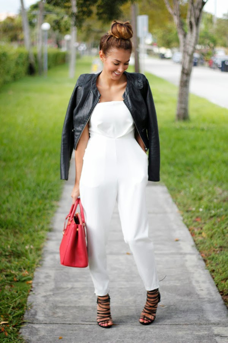 nicholl vincent style, white jumpsuit street style