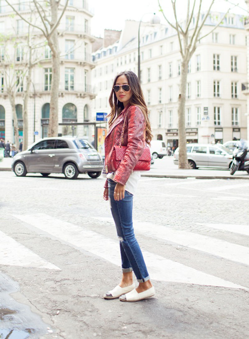 spotted chanel espadrilles   chic obsession