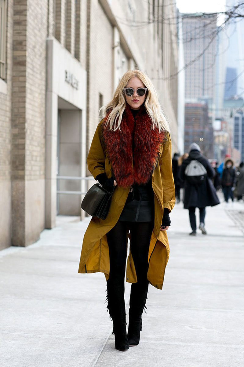 tres chic streetstyle || NEW YORK FASHION WEEK AW15 #1