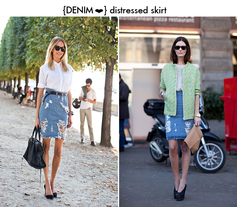 denim skirt, distressed denim skirt, street style denim