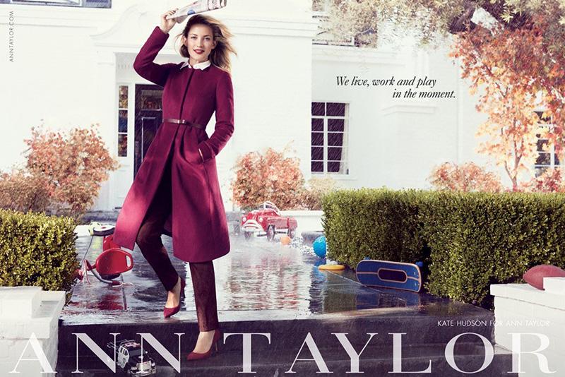 kate hudson ann taylor campaign, ann taylor fall 2013