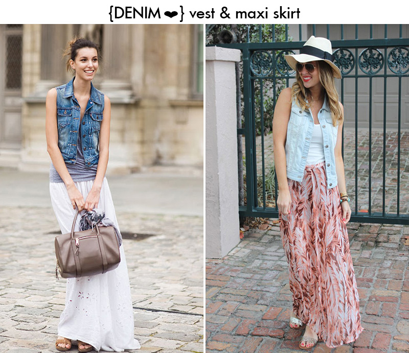 maxi skirt denim, maxi skirt street style