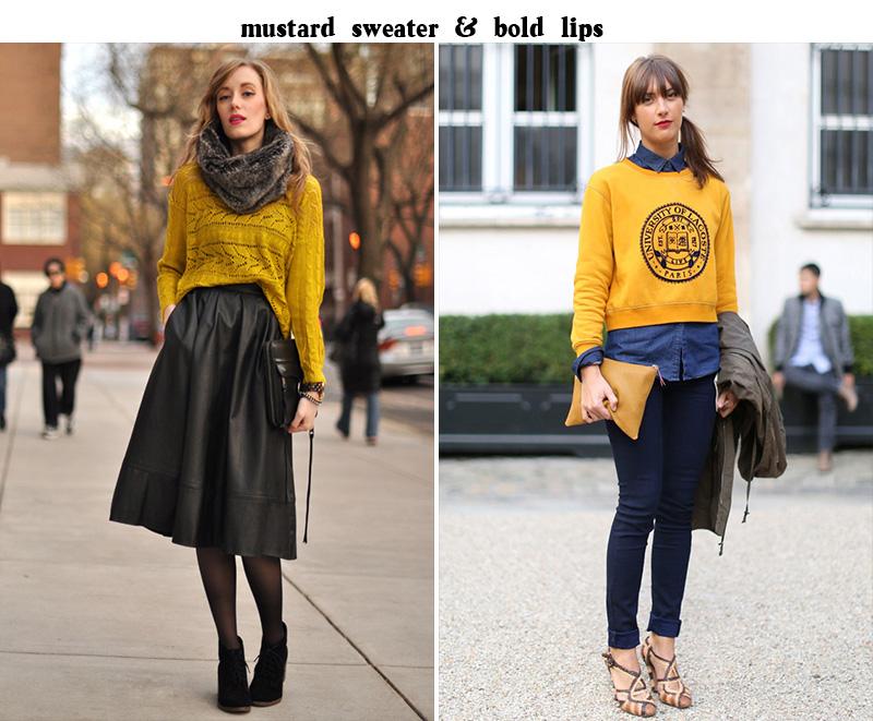 mustard sweater, mustard style, sweater inspiration