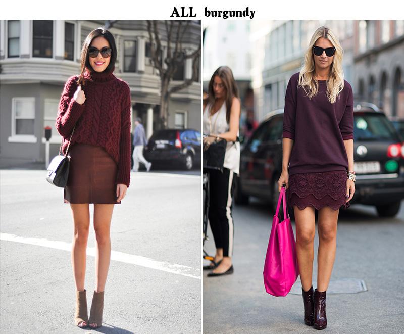 burgundy inspiration, burgundy trend, burgundy fall