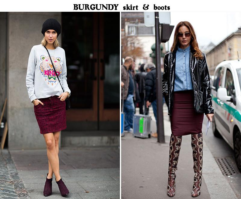 burgundy skirt, burgundy trend, burgundy inspiration, Pernille Teisbaek