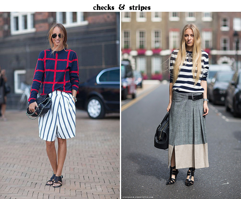check and stripes fashion, checks and stripes