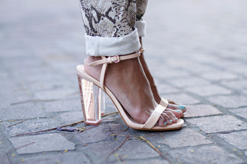 transparent fashion, transparent trend, transparency trend, sheer trend, lucite shoes